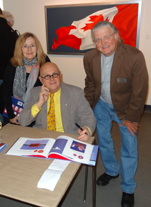 Kerry Kennedy Butler UEL, Charles Pachter & Jon Butler UEL at the Art Gallery of Sudbury.
